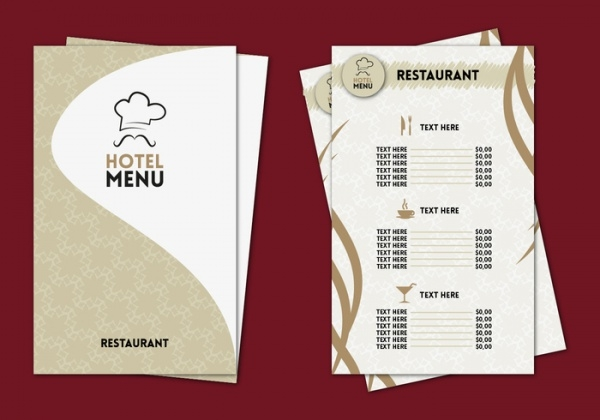 Professional Menu Card