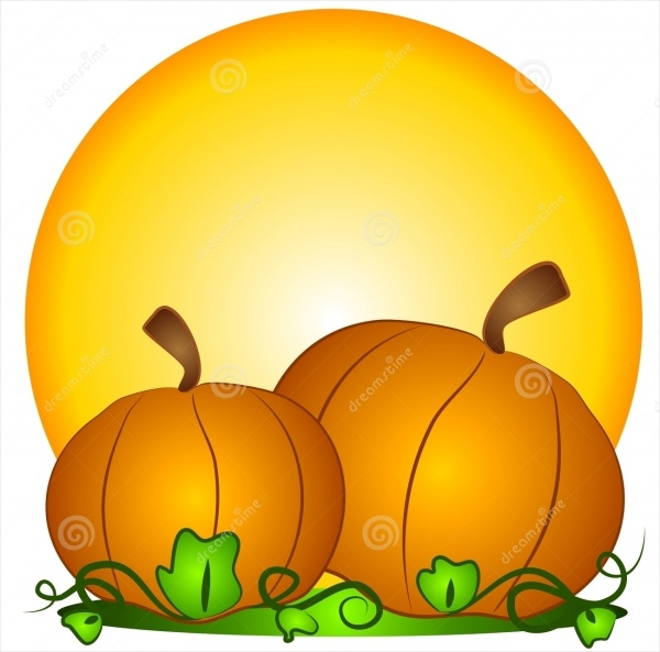 Pumpkins Sun Clipart Design