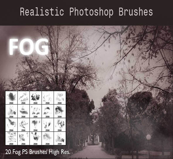 Realistic Photoshop Fog Brushes
