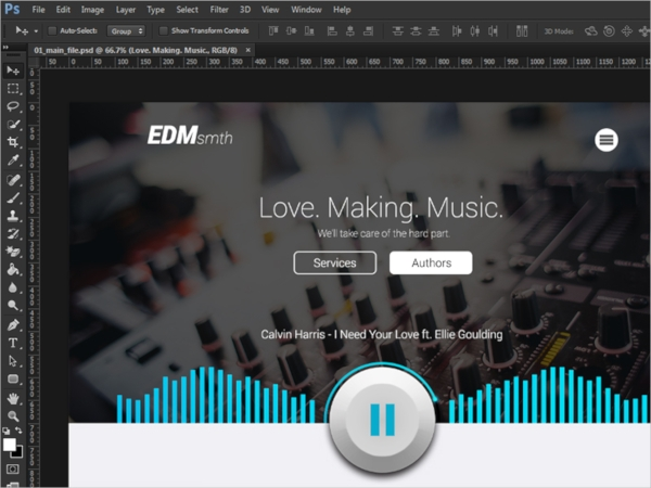 Record Label PSD Template