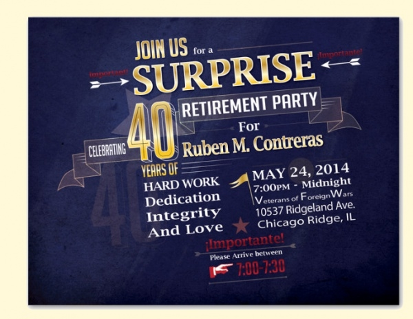 19 Surprise Party Invitations PSD AI Illustrator Download – Surprise Retirement Party Invitation
