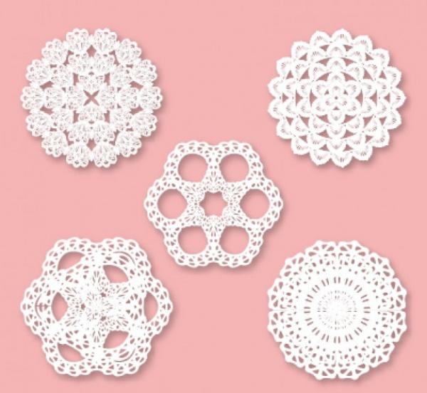 Retro Snowflake lace ornaments