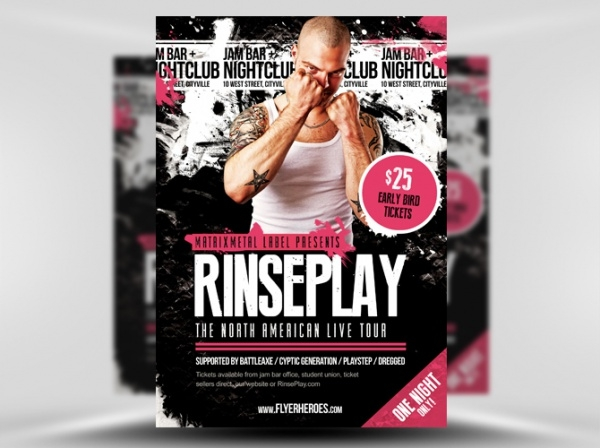 Rinseplay Rock Band Flyer Template