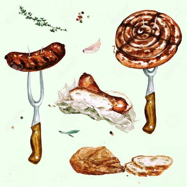 Roasted Summer Food Clipart
