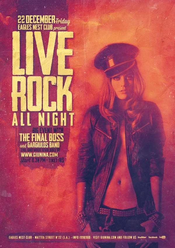 Rock Live Music Band FLyer