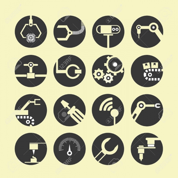 Round Lined Setting Icons