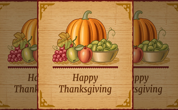 Rustic Thanksgiving Greeting Card