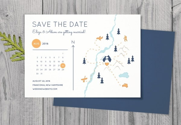 Rustic Wedding Calendar