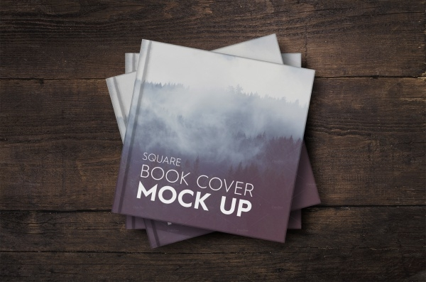Sale Square Photo-book Mock-up