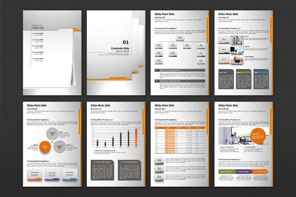 Sales Folder Vertical PPT Template