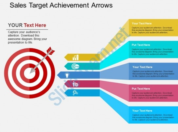 Sales Target Achievement Powerpoint Design