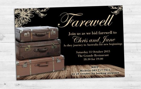 School Farewell Invitation