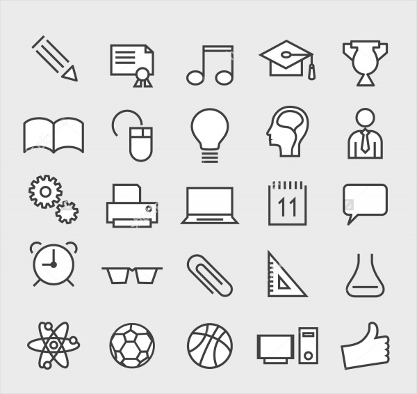 Set of Minimal Student Icons
