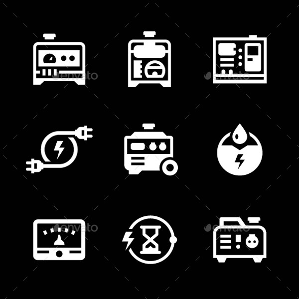 Setting Icons for Electrical Generator