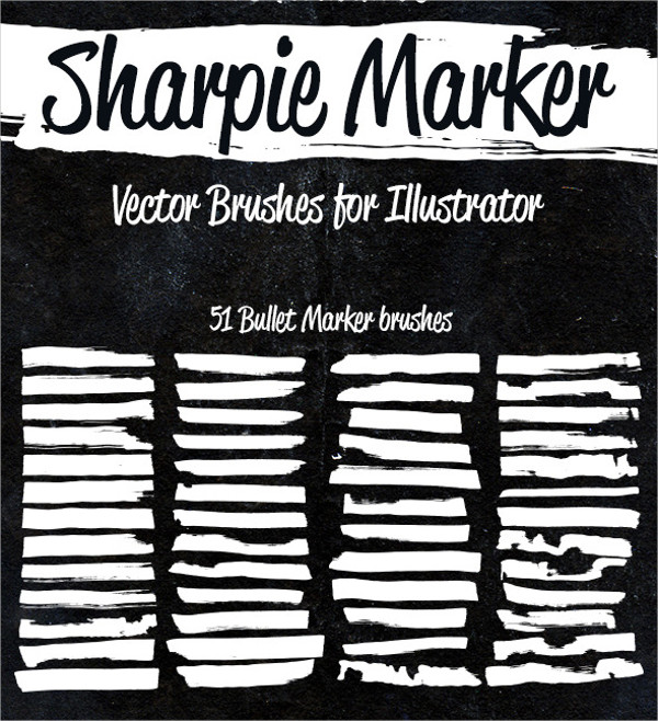 Sharpie Marker PS Brushes