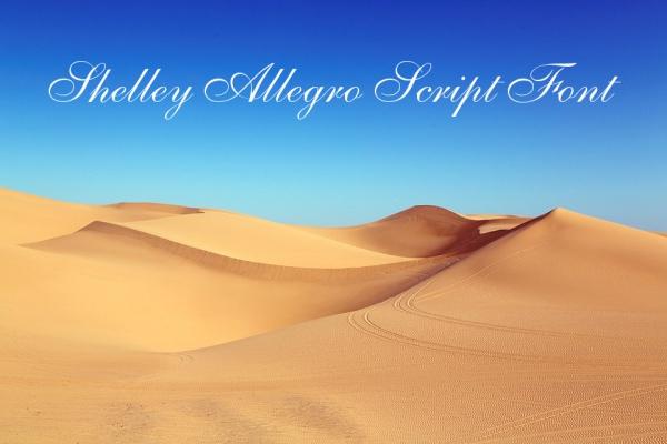Shelley Allegro Script Font