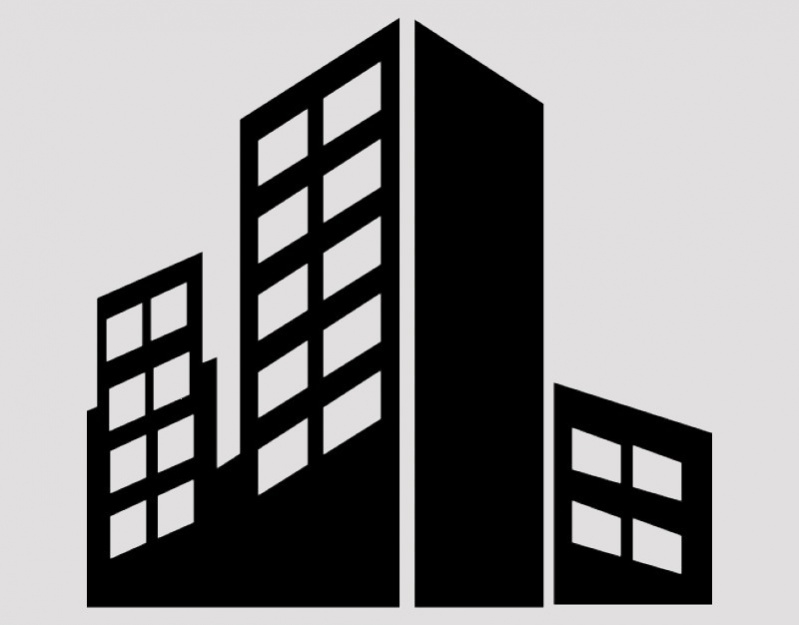Silhouette City Building Icon