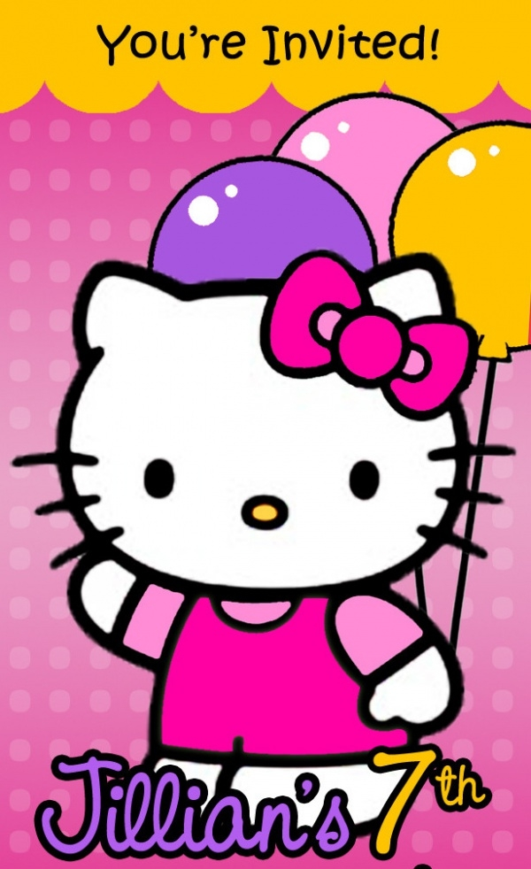 Simple & Classic Kitty Invitation Design
