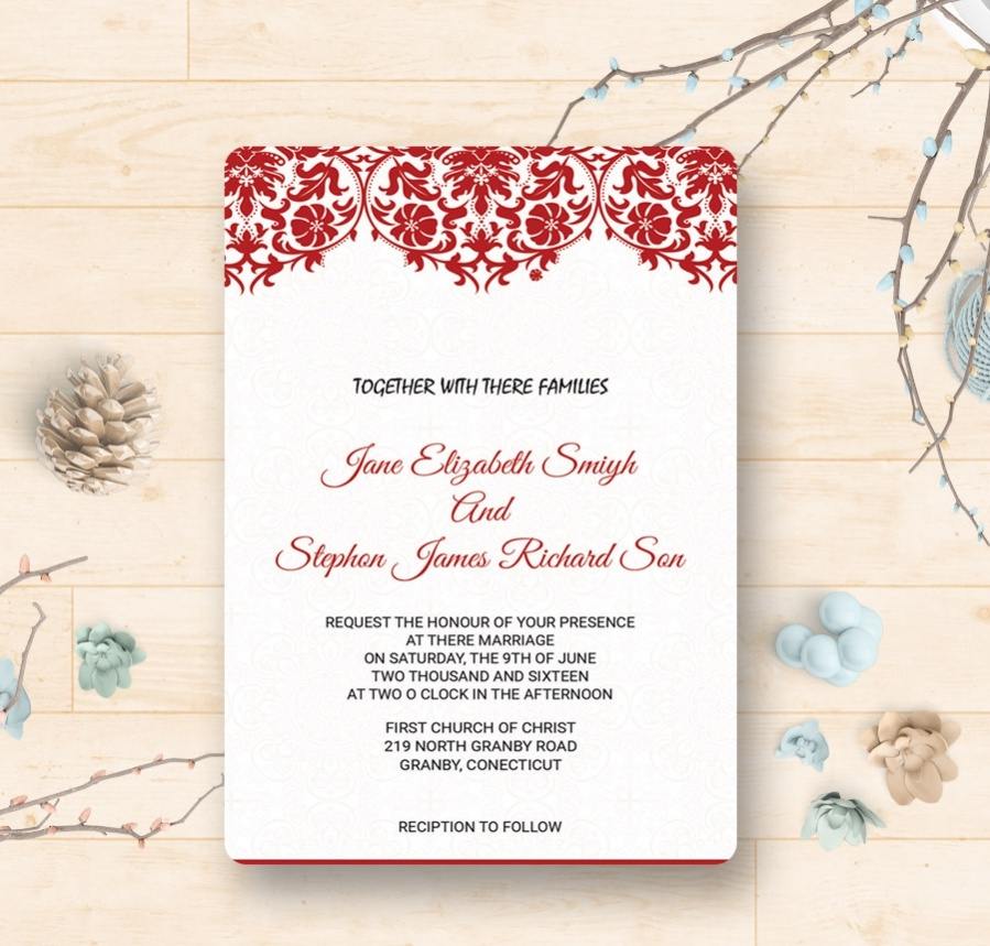 simple classy wedding invitation