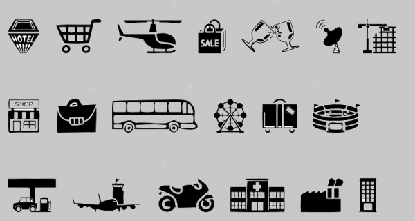 Simple & Clean City Icons