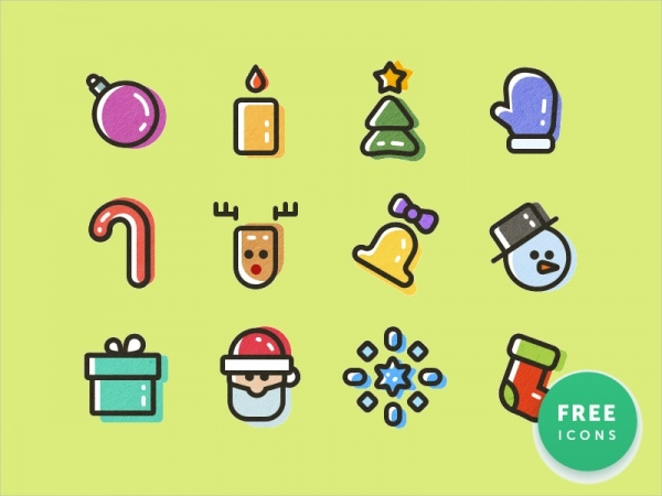 Simple New Year Icons