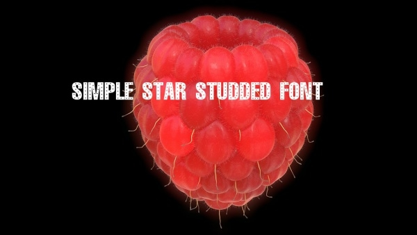 Simple Star Studded Font