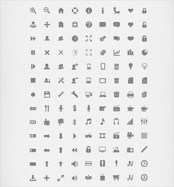 Simple r Pixel Icons Design