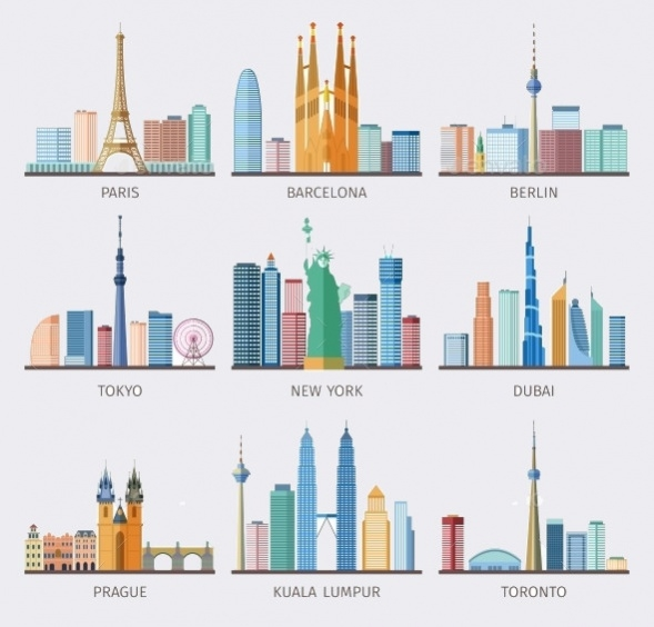 Skyline City Icons For Download