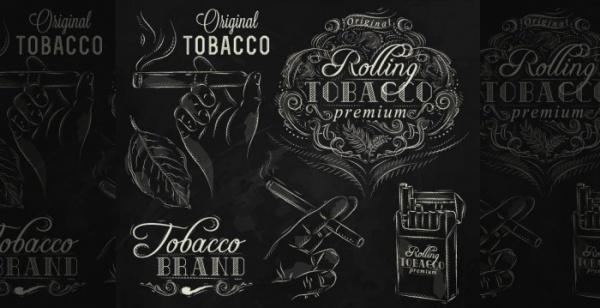 Smoking typography design elements