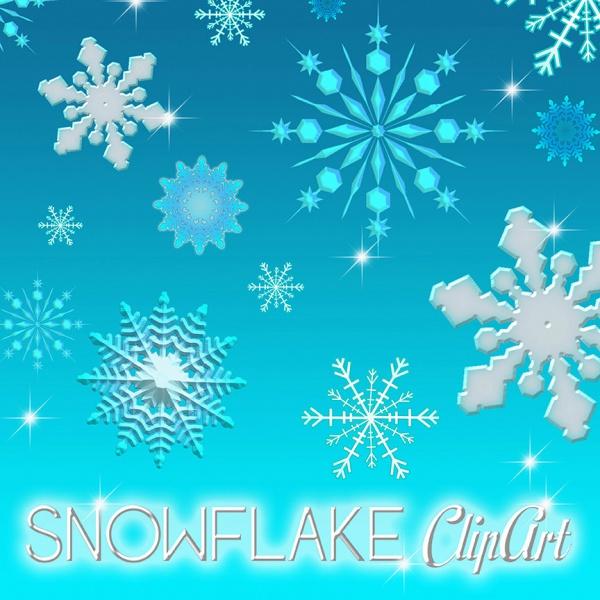 Snowflake Invitation Clip-art