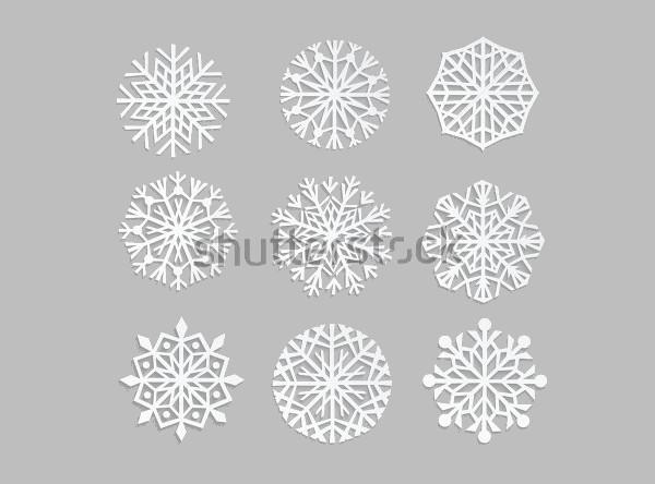 Snowflake Vector Illustrative design