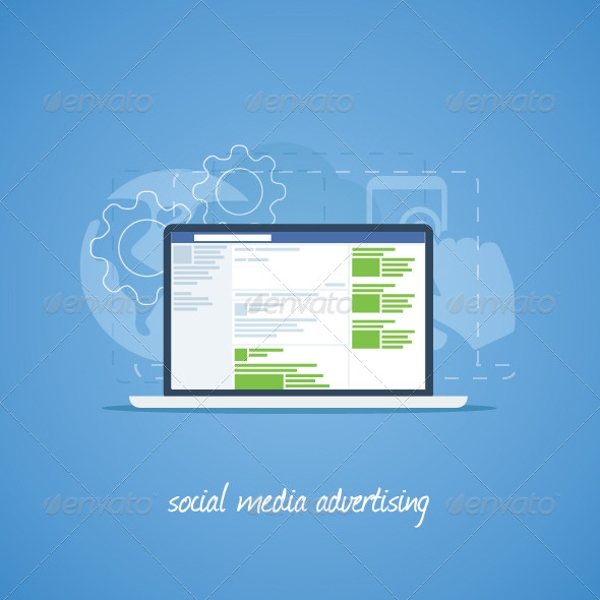 Social Media Advertising Concept