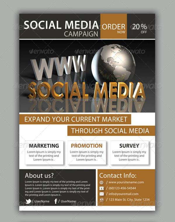 Social Media Campaign Flyer