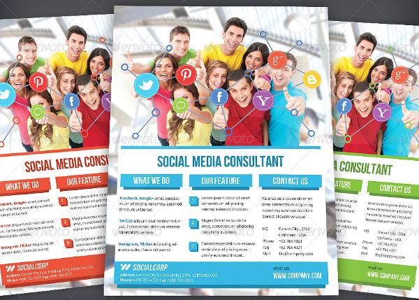 Social Media Consultant Flyer
