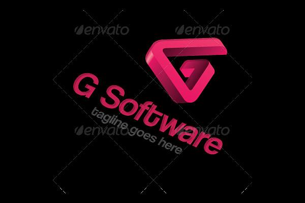 Software 3D G Logo Design