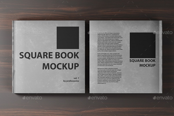 Square Book Photoshop Mock-up