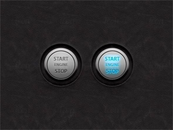 Start Stop Engine UI Buttons