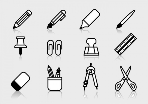 Student Stationery Icons