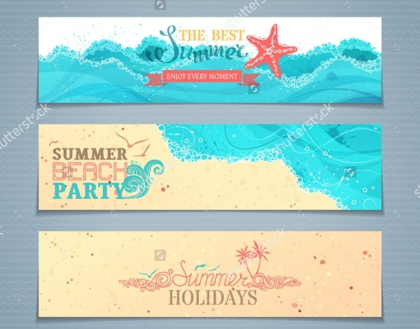 Summer Party Banners Design