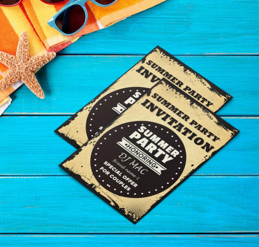 22 Free Invitations Birthday Dinner Reunion BBQ – Summer Party Invitation Templates Free