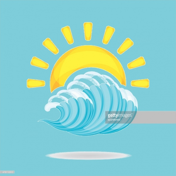 Sun & Wave Clipart Design