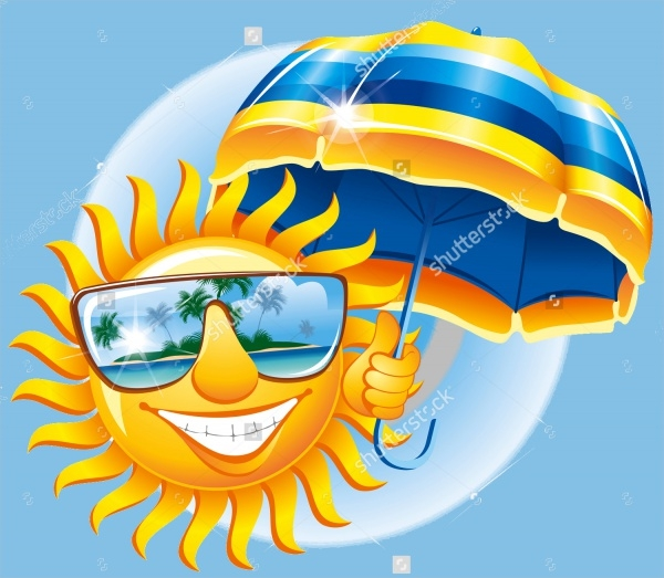 Sun glasses Umbrella Clipart