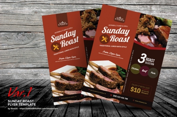 Sunday Roast Cookout Flyer Design