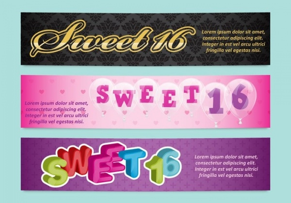 Sweet 16 Arty Banners