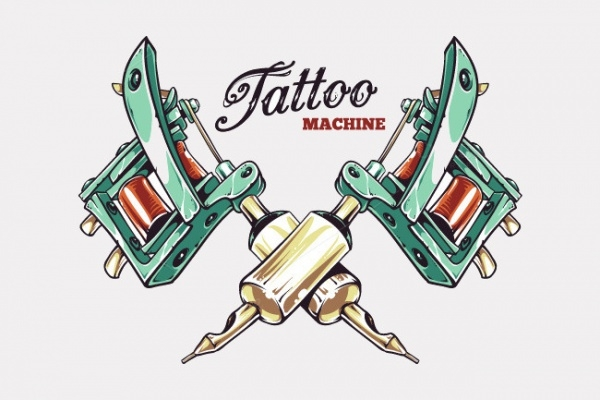 Tattoo Gun Illustration