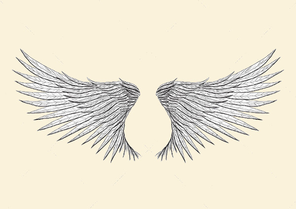 tattoo wings illustration