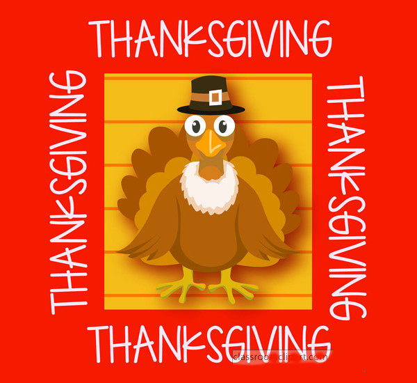 Thanksgiving Orange Frame Free Clip Art