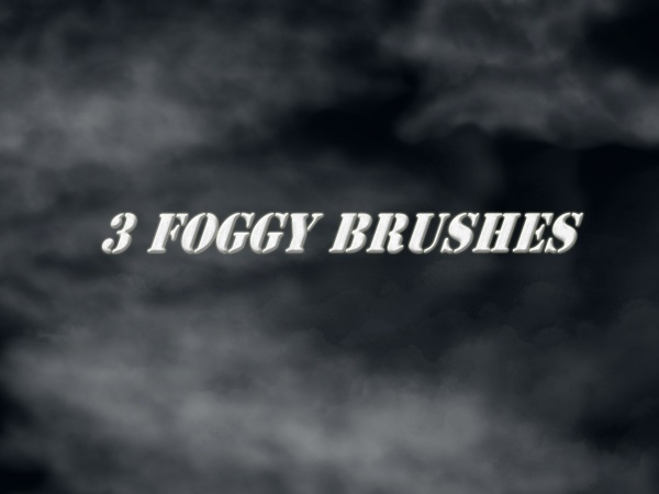 Three Foggy Brushes For Desktop