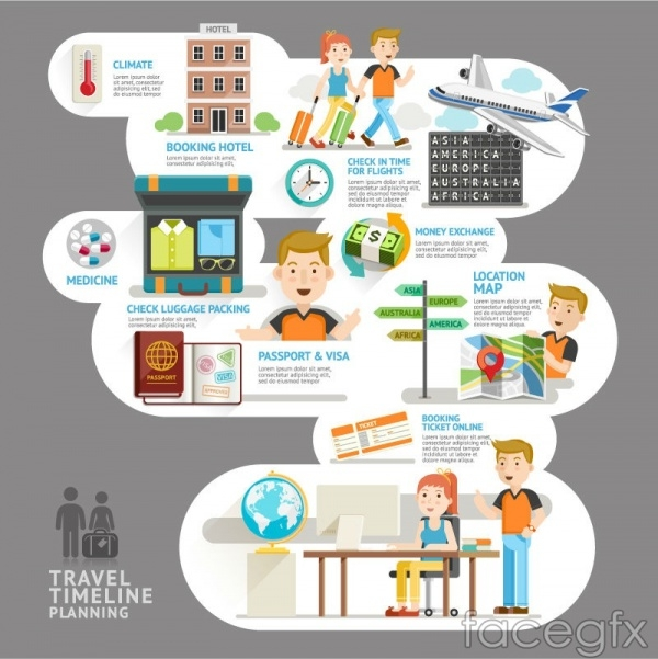 Travel planning Infographic vector