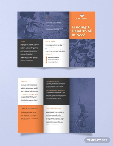 tri fold fundraising brochure template